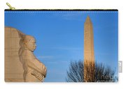 Mlk And Washington Monuments Carry-all Pouch