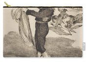 """Mlle. Victorine In The Costume Of An """"espada""""(l'espada) Carry-all Pouch"""