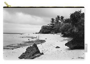 Moalboal Cebu White Sand Beach In Black And White Carry-all Pouch