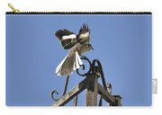 Mockingbird Landing On Fence Carry-all Pouch