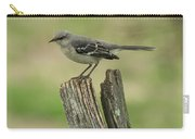 Perched On An Old Fence Carry-all Pouch