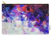 Modern Abstract Painting In Blue Carry-all Pouch