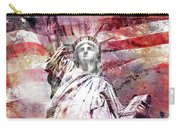 Modern-art Statue Of Liberty - Red Carry-all Pouch
