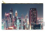 Modern City Architecture By Night. Dubai. Carry-all Pouch