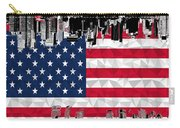 Modern City Scape American Flag Carry-all Pouch