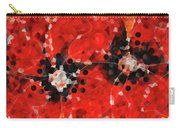 Modern Red Poppies - Sharon Cummings Carry-all Pouch