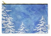 Modern Watercolor Winter Abstract - Snowy Trees Carry-all Pouch