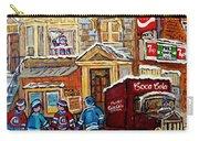 Moe's Corner Snack Bar And Diner Montreal Landmark  Restaurant Canadian Art Carole Spandau Carry-all Pouch