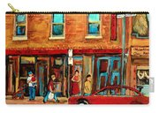 Moishes Steakhouse On The Main By Montreal Streetscene Painter Carole  Spandau  Carry-all Pouch