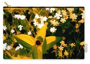 Molten Gold Flowers Carry-all Pouch