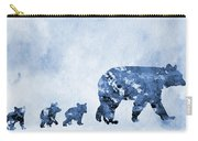 Mom And Baby Bears-blue Carry-all Pouch