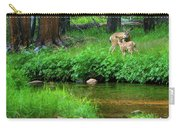 Mom And Baby Deer Carry-all Pouch