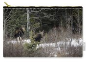 Mom And Calf  In The Forest Carry-all Pouch