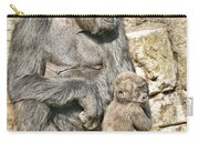 Momma And Baby Gorilla Carry-all Pouch