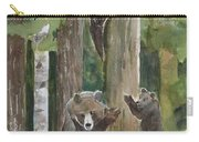 Momma With 4 Bear Cubs Carry-all Pouch