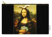 Mona Lisa Easter Bunny Carry-all Pouch