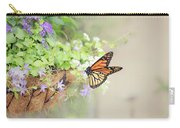 Monarch And Garden Basket Carry-all Pouch