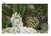 Monarch And The Butterfly Bush  Carry-all Pouch