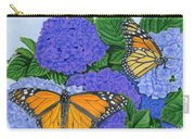 Monarch Butterflies And Hydrangeas Carry-all Pouch