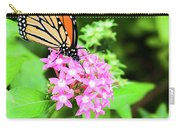 Monarch Butterfly And Honey Bee Carry-all Pouch