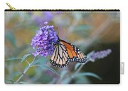 Monarch Butterfly And Purple Flowers Carry-all Pouch