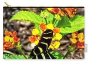 Monarch Butterfly And Zebra Butterfly Carry-all Pouch