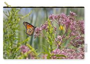 Monarch Butterfly In Joe Pye Weed Carry-all Pouch