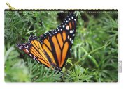 Monarch Butterfly In Lush Leaves Carry-all Pouch