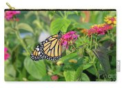 Monarch Butterfly On A Flower  Carry-all Pouch