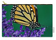 Monarch Butterfly On Flower Blossom Carry-all Pouch