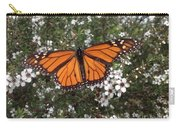 Monarch Butterfly On New Zealand Teatree Bush Carry-all Pouch