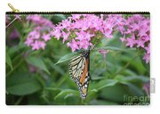 Monarch Butterfly On Pink Flowers  Carry-all Pouch
