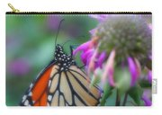 Monarch Butterfly Posing Carry-all Pouch