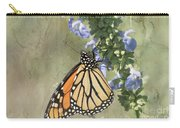 Monarch Butterfly Textured Background Carry-all Pouch