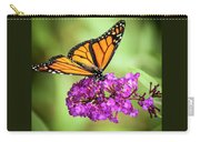 Monarch Moth On Buddleias Carry-all Pouch by Carolyn Marshall