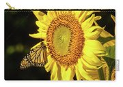 Monarch On A Sunflower Carry-all Pouch