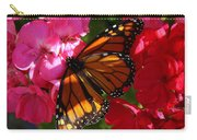 Monarch On Summer Geraniums Carry-all Pouch
