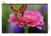 Monarch On Zinnia 3 Carry-all Pouch