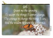 Monarch Serenity Prayer Carry-all Pouch