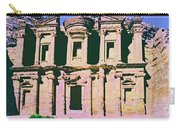 Monastery At Petra Carry-all Pouch by Dominic Piperata