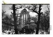 Monastery Graveyard In The Snow Cdf Carry-all Pouch