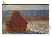 Monet Claude Haystack Snow Effect  Cat Carry-all Pouch
