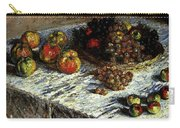Monet Claude Still Life Apples And Grapes Carry-all Pouch