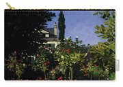 Monet Garden In Flower At Sainte Adresse Carry-all Pouch