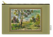 Monetcalia Catus 1 No. 3 Landscape Scene Near Fontainebleau L B With Alt. Decorative Printed Frame. Carry-all Pouch