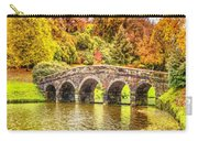 Monetcalia Catus 1 No. 9 - Monet Decides To Paint The Arched Bridge At Stourhead. L A S Carry-all Pouch