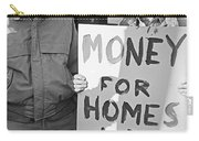 Money For Homes Not War Anti Gulf War Rally Tucson Arizona 1991 Carry-all Pouch