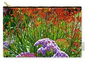 Yellow-orange Kangaroo Paws And Sea Lavender By Napier At Pilgrim Place In Claremont-california Carry-all Pouch