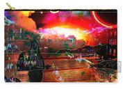www.nospankingthemonkey.com Monkey Painted Italy On A Moon Lit Night Carry-all Pouch