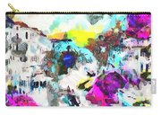 Monkey Painted Italy Pastels Carry-all Pouch